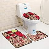 HNZK Fußmatten Badematte Teppiche Badezimmer Rutschfeste Matte Wc Boden Badezimmer-Matte Rutschfeste Badematte Fußmatten Küche Teppich