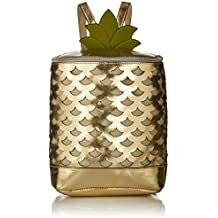 T-Shirt & Jeans Perforated Metallic Pineapple Back Pack