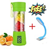 #8: Portable Juicer Bottle - Personal Blender Charger Fruit Mixing Machine, Mini Fruit Juice Extractor, Mixer Cup