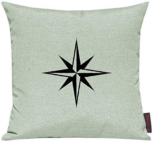 Kissenhülle für Auserwählte! Sofakissen Sailing Nautic Stern Motive Maritim, Farbe mint