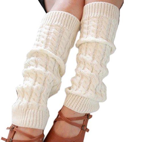 Sannysis Mujeres elástico Puños Botas Calcetines De punto Tejer Calc