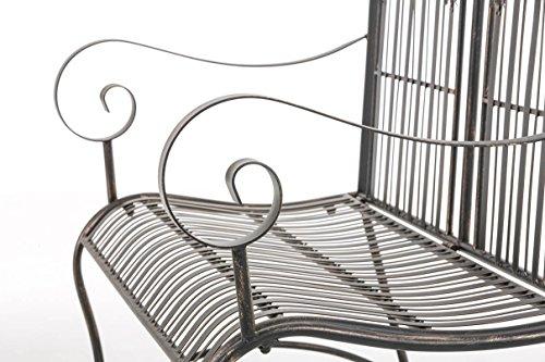 CLP Metall-Gartenbank RONJA im Landhausstil, Eisen lackiert, 108 x 55 cm, 2er Sitzbank Bronze - 7