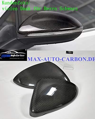 MAX AUTO CARBON Spiegelkappen Spiegel Abdeckung Mirror Cover Hülle passend für GOLF 7 VII GTI GTD R GTE 7 Plus LCI auch Facelift