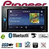 Pioneer MVH-A200VBT 2DIN Autoradio 15,7 cm (6,2 Zoll) Media Receiver für Audio Video USB, Clear-Resistive-Touchscreen S