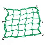 Per Bike Equipment portabagagli in rete corda elastica 40 x 40 cm verde