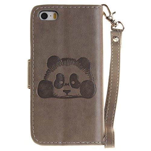 """Coque, cowx PU Etui en cuir pour iPhone se (4"""") Étui de protection en cuir iPhone se, se étui portefeuille pour iPhone iPhone se Case, poche Fonction support se poches Bols Foto20"""