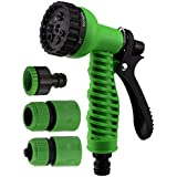Hk Villa 7 Function High Pressure Car/Bike/Gardening Wash Hose Nozzle Water Gun Spray (Green) Water Sprayer For Plants,hose Nozzle,hose Nozzle For Car Wash,water Spray Gun For Car Wash,water Spray Gun For Garden,high Pressure Water Nozzle,water Nozzle For