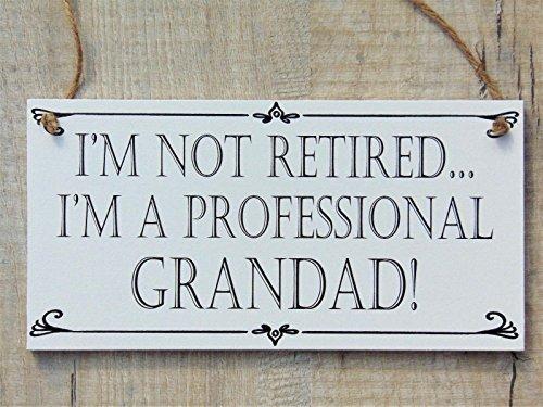 Lilylotties m not retired i' m a professional nonno divertente casa di targhetta regalo festa del papà