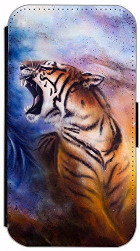 Flip Cover für Apple iPhone 4 / 4s Design 445 Katzenbaby Katze Braun Blau Hülle aus Kunst-Leder Handytasche Etui Schutzhülle Case Wallet Buchflip (445) 421