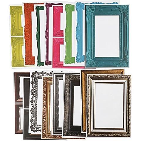 Frame, hoja 26,2x18,5 cm, 64 ordenar. Hoja, colores surtidos