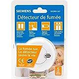 SIEMENS Ingenuity for life - Détecteur de fumée NF Autonomie 1 an - Garantie 5 ans SIDOREX SA7
