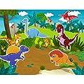Cooljoy 118 Piezas Puzzles de Madera Magnético, Pizarra Magnética Rompecabezas para Niños 3 4 5 Año ect, Pizarra Magnética Rompecabezas, Tablero de Dibujo de Doble Cara Juguete Educativo(Dinosaurios) de Cooljoy