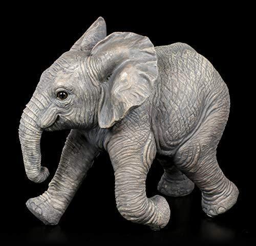 Figuren Shop GmbH Gartenfigur - Rennender Baby Elefant | Dekofigur, Casa Collection, Handbemalt