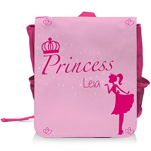 Kinder-Rucksack mit Namen Leia und schönem Prinzessin-Motiv für Mädchen (Leia Prinzessin Namen)