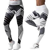 2 Pcs Leggins Pantalones Deportivos Elásticos Malla Leggings Deporte Mujer para Running Fitness Yoga, Blanco y Negro (M)