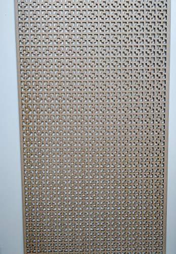 Grille décorative LaserKris - Panneau MDF perforé - Pour radiateur ou armoire (1 200mm x 620mm) - KK1
