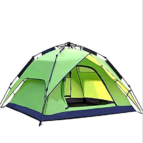 XG 3-4 personnes Tente Double tente automatique Une chambre Camping Tente 2000-3000 mm Oxford Waterproof-Camping