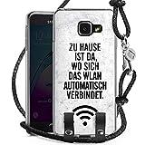 DeinDesign Samsung Galaxy A3 (2016) Carry Case Hülle Zum Umhängen Handyhülle mit Kette WLAN Home Zuhause