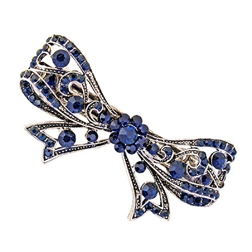 Hochzeit Haarschmuck Haarspange Kristall Blatt Blau Zubehör Schmuck (Schleife) Perlen-halskette Spangen