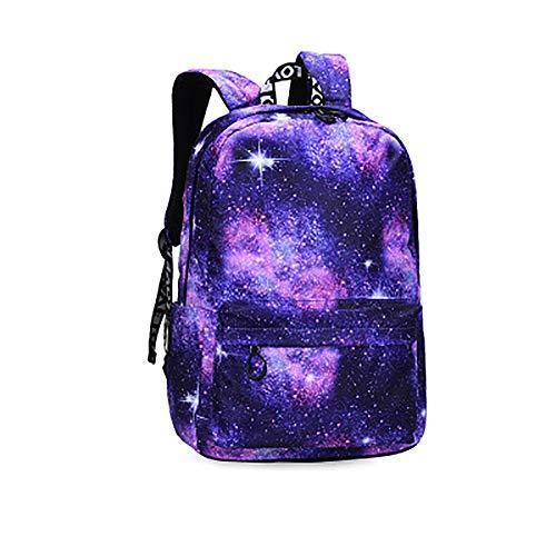 CYYAB Wanderrucksack für Kinder mit, Lässiger Kinderrucksack Wasserdicht/atmungsaktiv/verschleißfest/ausgleichsreduzierend für Verbundstoffe, Sport, Reise (28 * 11 * 39cm),Purple