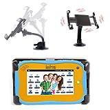 Support rotatif (180°) 2 en 1 pare-brise et appui-tête ajustable pour tablette enfant Kurio de Gulli, Videojet 1 et 2, Storio, Kidzstar, Lexibook et Fuhu Nabi