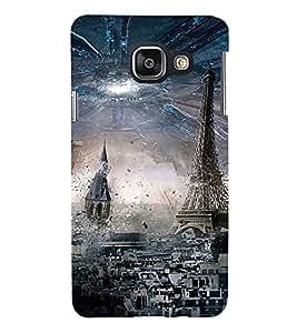 PrintVisa Designer Back Case Cover for Samsung Galaxy A3 (6) 2016 :: Samsung Galaxy A3 2016 Duos :: Samsung Galaxy A3 2016 A310F A310M A310Y :: Samsung Galaxy A3 A310 2016 Edition (Paris Eiffel Tower Pic)