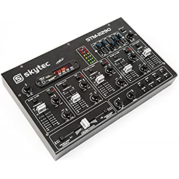 Skytec 1729856-Kanal Mixer mit Effekten, SD/USB / MP3 / Bluetooth