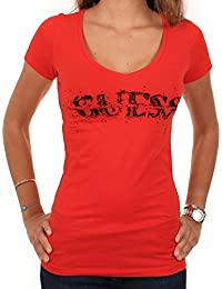 T-shirt Guess Bullet Stretch jersey ROUGE
