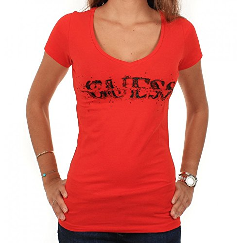 t-shirt-guess-bullet-stretch-jersey-rouge-s-rouge
