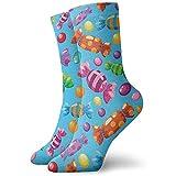 Be-ryl Süßigkeit-Weihnachtshut-Lebkuchen-Weihnachtsball-athletische Socken-Söckchen-Sport-beiläufige Socken-Baumwollmannschafts-Socken