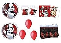 kit n°14 Star wars: Coordinato completo per la tavola dei personaggi . Il kit perfetto per festeggiare in allegria e compagnia addobbando la tavola in maniera colorata e divertente. n°4 : Confezione piatti tot. 32 piatti in carta n°4: Confezi...