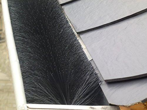 30 Meter Dachrinnenbürste; Ø 12 cm - unkompliziert: hält von selbst bei Wind und Wetter * aus deutscher (eigener) Produktion!