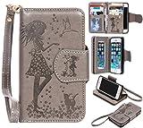 BONROY® Coque pour iPhone 5 5S 5SE,Housse en cuir pour iPhone 5 5S...
