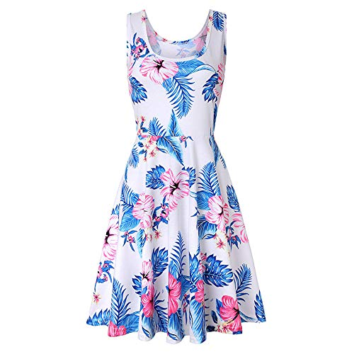 XuxMim Damen Abiballkleid Abendkleid Elegant Tüll Applique Ballkleid Rückenfrei Bodenlang EU 32-46(Weiß-2,X-Large)