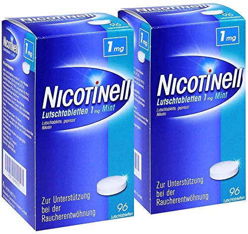 Sparset Nicotinell Lutschtabletten 1 mg Mint 2 x 96 Stück -