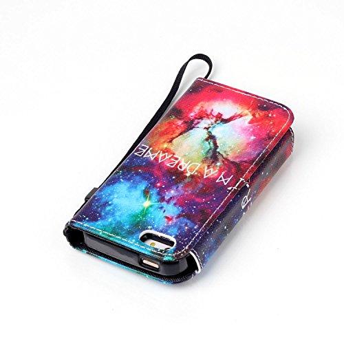 MOONCASE iPhone 5C Case 2 in 1 avec détachable Coque en Cuir Portefeuille Housse de Protection Étui à rabat Case pour iPhone 5C -FT12 FT12