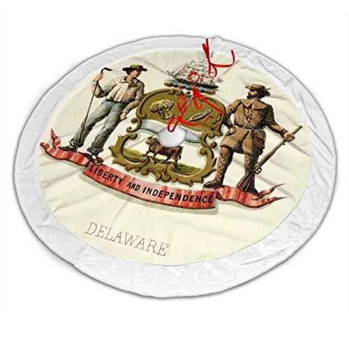 CZLXD Falda de árbol de Navidad con Escudo del Estado de Delaware ...