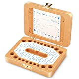 PolySky Milchzähne Box | Zahnbox Zahndose Milchzahndose | Zahndöschen für Kinder | 100% handgefertigt mit Holz [Englisch Version]
