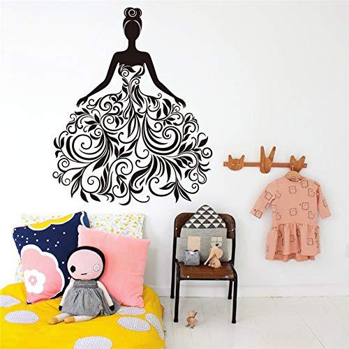 Blume Reben Mädchen Wandaufkleber Vinyl Kunst Wand Schlafzimmer Wandkunst Aufkleber Kinderzimmer Wohnkultur Diy Wandbild