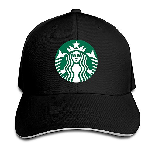 Hittings Starbucks Logo Adjustable Snapback Caps Baseball Peaked Hat Black par  Hittings