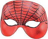 Spiderman Domino halbes Gesicht Fasching Anzug Augen Maske