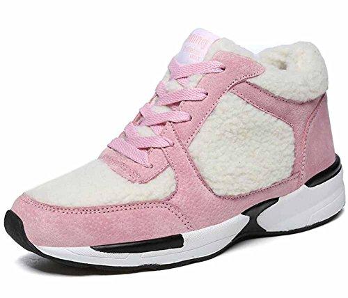 Donne Caldo Scarpe Da Corsa 2017 Inverno Nuovo Leggero Scarpe Da Ginnastica Più Cachemire Casuale Fitness Scarpe Pink