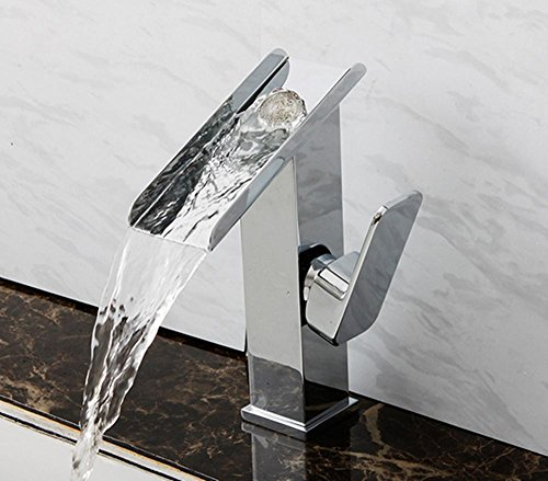 GZD tutto il rame bagno controsoffitto rubinetto del bacino caldo e freddo miscelazione Water Falls rubinetto