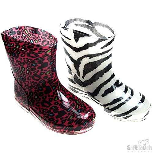 Mellow Be Soft Touch Rain Wellington Boots - Animal Prints Black/White Red/White Available in Sizes 19-21 for Ages 15-24 Months