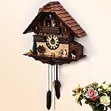 Reloj de cuco pastoral europea tiempo de movimiento de reloj de cuco Moda creativa salón watch silenciar