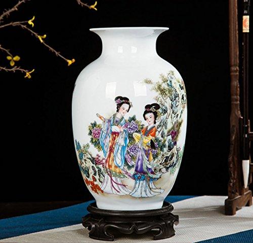ase Chinesische Antike Vase Alte Weibliche Muster Vase/Weiß/Charakter,A ()