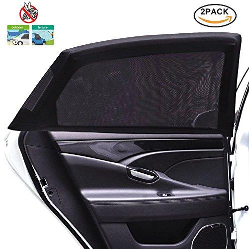 Preisvergleich Produktbild Tospanic 2Auto Fenster Schatten, Auto Sonnenschutz Sonnenschutz atmungsaktiv Mesh umfasst die Rückseite Windows Maximaler UV-Schutz für Baby, Kinder, Kinder- und Hund