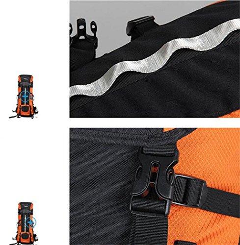 Bergsteigen Tasche 70 + 10L Rucksack Schultern Mann mit Baldachin Orange