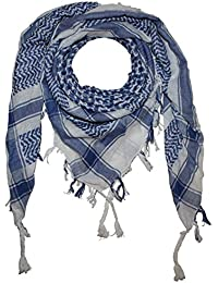Superfreak® Pañuelo pali con color de base blanco°chal PLO°100x100 cm°Pañuelo palestino Arafat°100% algodón – ¡Todos los colores!