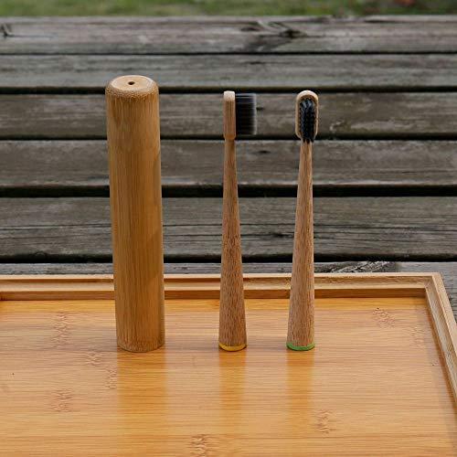 Neue konische Bambuszahnbürste Big Cone Bambuszahnbürste Holzzahnbürste Zylindrische Zahnbürste Bambuskohlebürste 5 Kindergrün